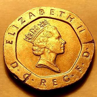 20 пенсов 1994 года Великобритания - а