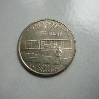 США 25 центов 2001 Р Каролина С.