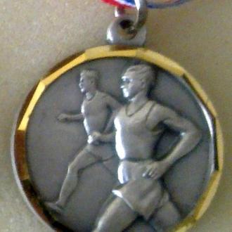 спорт, легкая атлетика, наградная медаль международных соревнований, Франция.