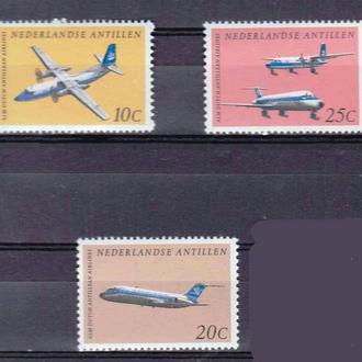Авиация .  Нид. Антиллы 1968 г   MNH -
