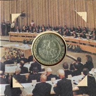 Италия 5000 лир 1996 Серебро Банк.буклет Тираж=38.000 Rare!!!