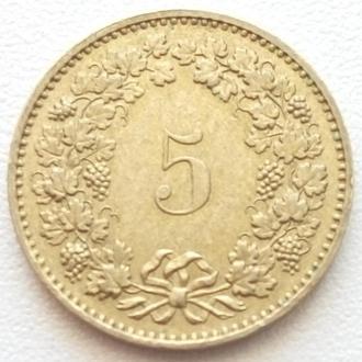 Швейцария 5 раппен, 1983