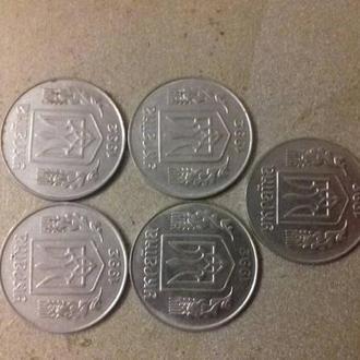 Украинские монеты 5 копеек 92г