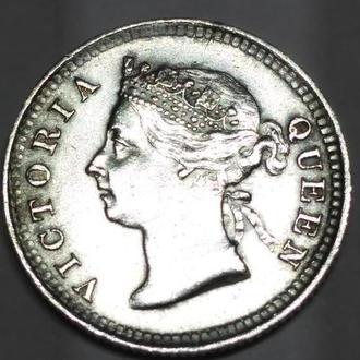 5 центов 1889 Гон-Конг, Английский, Виктория,серебро, оригинал, Unc, Люкс!