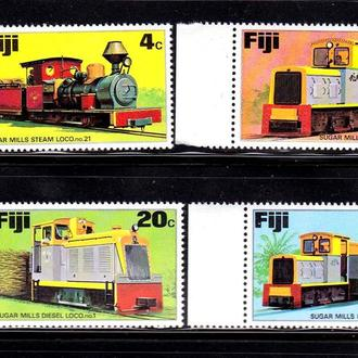 GB  Фиджи 1976 г  MNH - техника , ЖД
