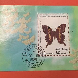 Бабочка Мадагаскар 1984г