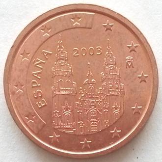 (А) Испания 2 евроцента евро цента 2003