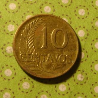 Перу 1965 год монета 10 сентаво !