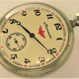 Часы Молния СССР поезд рабочие