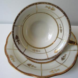 Чашка старая Германия- BAVARIA. костяной фарфор. сус.Золото. номерная. идеал.