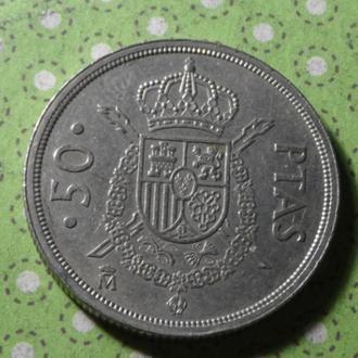Испания монета 50 песет 1983 год !