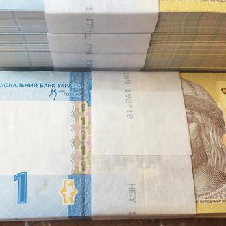 Украина 1 гривна 2006 г.  в UNC банковская пачка с номерами подряд