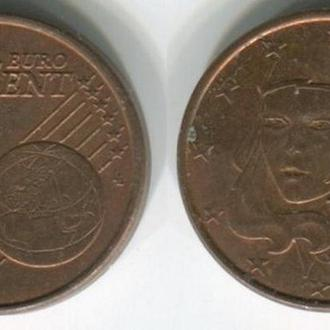 Франция 1 евроцент 1999 г.