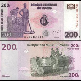 КОНГО 200 франков 2013г. UNC