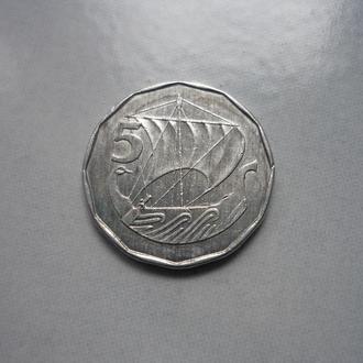 Кипр 5 милей 1982 парусник