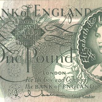 Великобритания 1 фунт 1962-1966 г. в UNC