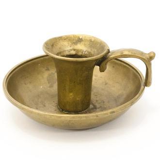 Старый бронзовый подсвечник, ночник, бронза, Германия 0022 пд