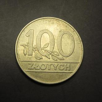 100 злотих 1990 Польща