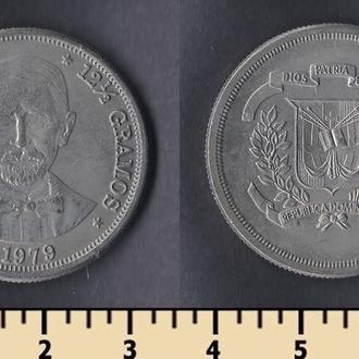 ДОМИНИКАНСКАЯ РЕСПУБЛИКА 1/2 ПЕСО 1979