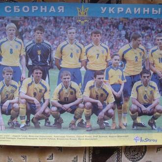 плакат  постер  футбол   Сборная Украины