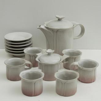 Кофейный сервиз, керамика, 1980-е.