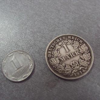 германия 1 марка 1914 №6205