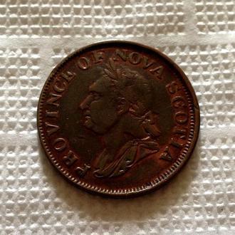 1 пенни, 1832 г.,  НОВАЯ ШОТЛАНДИЯ