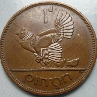 Ирландия 1 пенни 1966 фауна