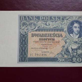 20 злотых , Польша 1931 год