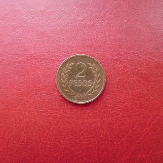 Колумбия 2 песо 1977