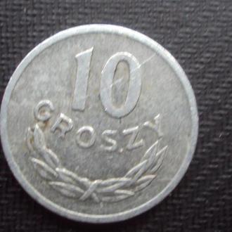 Польша 10 грошей. 1967г.