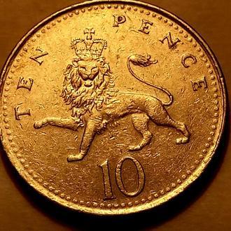 10 пенсов 1996 года Великобритания - а