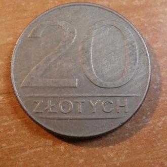Польша 20 злотых 1987