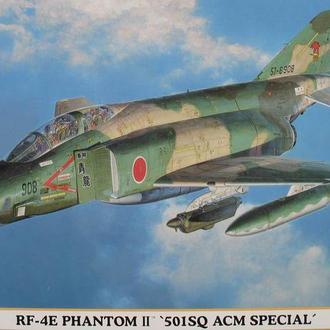 Сборные модели (2 шт) самолета F-4 Phantom + сопла Aires 1:72 Hasegawа