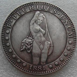 США Доллар 1881 г. Сексуальная девушка