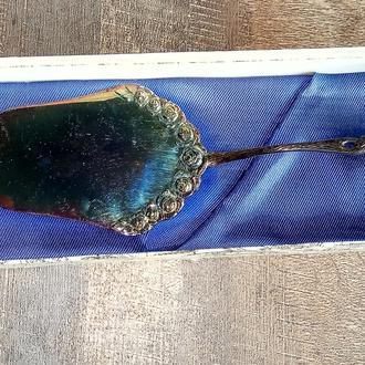 Серебряная винтажная лопатка для торта, десерта, серебро 100, Германия