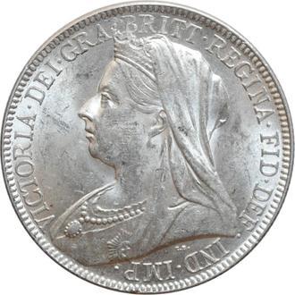 "Великобритания 2 шиллинга (флорин) 1899 г., BU, ""Королева Виктория (1838 - 1901)"""