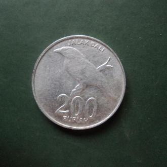 Индонезия. 200 рупий 2003г.