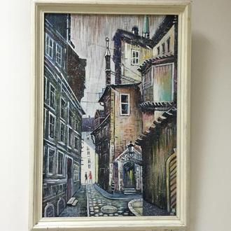 """Картина """"Дом с мансардой"""" заслуженного художника Украины Вдовиченко А.Е."""