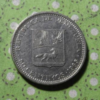 Венесуэла 1965 год монета 50 сентимов !