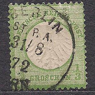Рейх, 1872 г., первые марки, марка №2