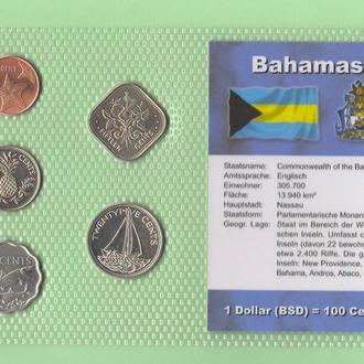 Набор монет БАГАМСКИЕ ОСТРОВА пластик блистер запайка набір БАГАМСЬКІ ОСТРОВИ
