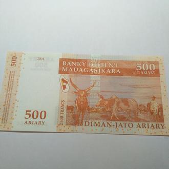 500 ариари 2004, Мадагаскар, пресс, unc, оригинал!