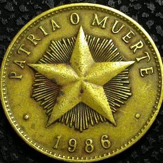 Куба 1 песо 1986 год