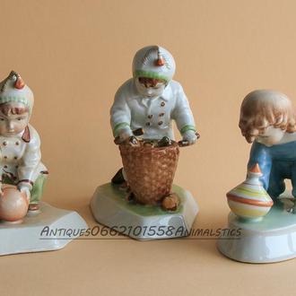 Фарфор фарфоровая статуэтка Zsolnay Венгрия Дети коллекция
