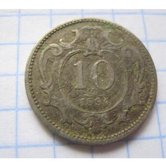 10 ГЕЛЛЕР 1894 АВСТРО-ВЕНГРІЯ