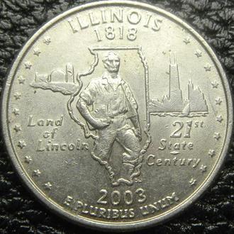 25 центов 2003 P США Іллінойс