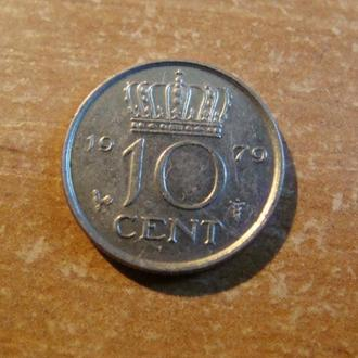 Нидерланды 10 центов 1979