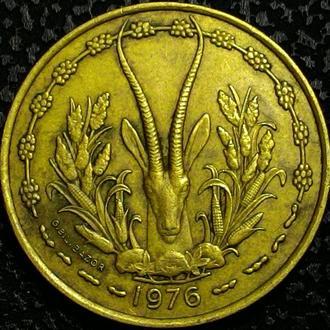 Западная Африка 25 франков 1975 год ОТЛИЧНАЯ!!!!