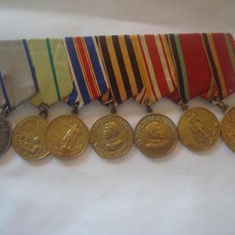 Медали  СССР  (Отвага, Ленинград, Япония и др.) с доком